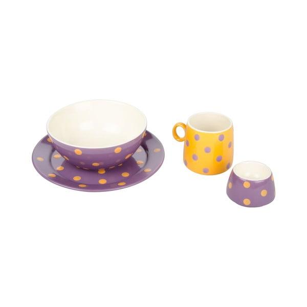 Dziecięcy zestaw naczyń Ramponi Baby Lilac
