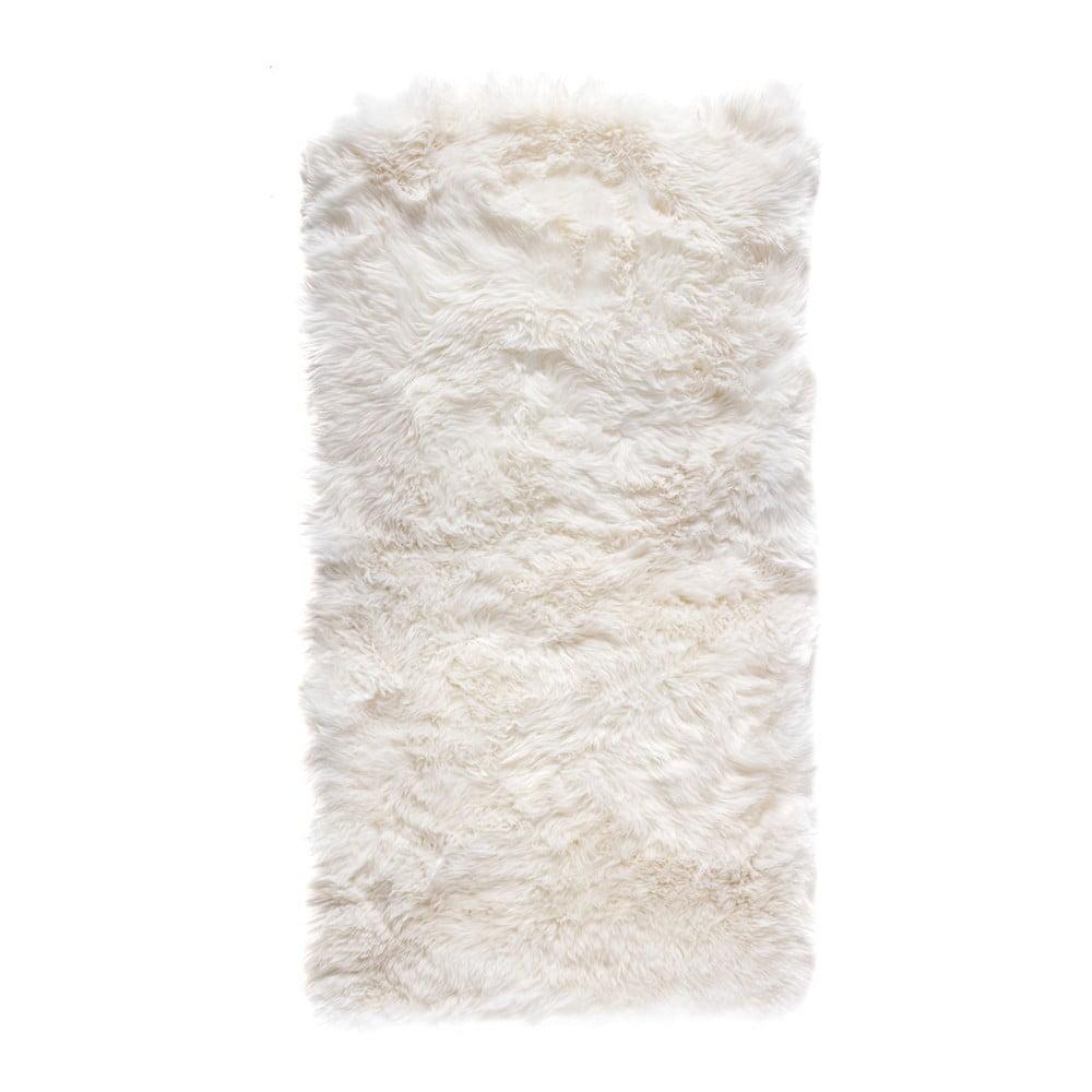 Biały Dywan Prostokątny Z Owczej Skóry Royal Dream Zealand 140x70 Cm Bonami
