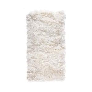 Biały dywan prostokątny z owczej wełny Royal Dream Zealand
