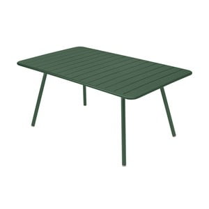 Zielony stół metalowy Fermob Luxembourg