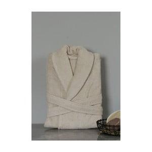 1d15108aba5f56 Beżowy bawełniany szlafrok unisex My Home Plus Spa, rozm. M/L