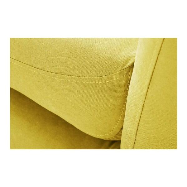 Żółty 3-osobowy narożnik prawostronny Scandi by Stella Cadente Maison Comete