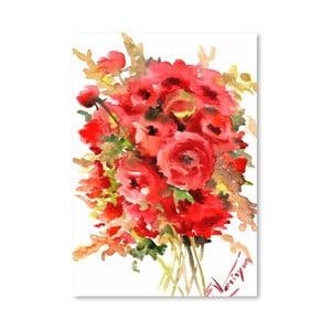 Plakat Red Ranunculus (projekt Suren Nersisyan)