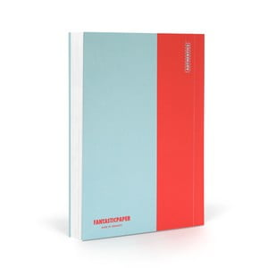 Notes FANTASTICPAPER A6 Skyblue/Warm Red, gładki