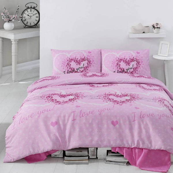 Pościel Sueno Pink, 200x220 cm