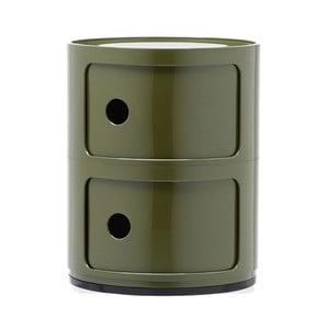 Zielona szafka z 2 szufladami Kartell Componibili