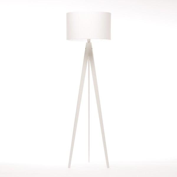 Lampa stojąca Artist White Felt/White Birch, 125x42 cm