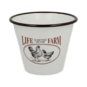 Emaliowana doniczka Farm Life