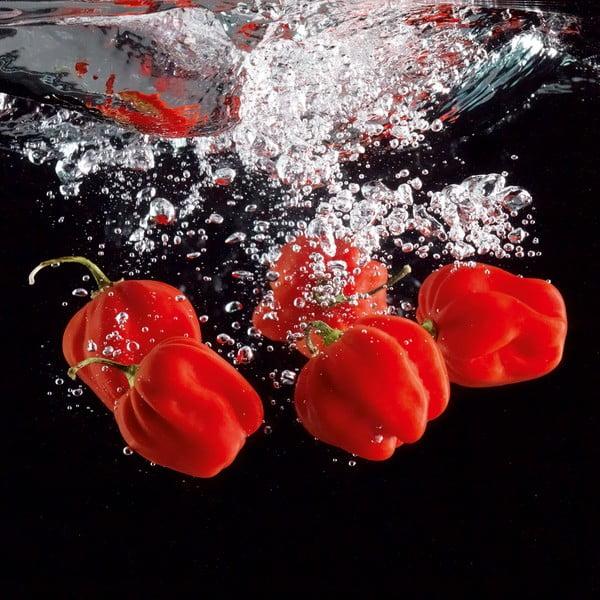Szklany obraz Pepper Splash, 30x30 cm