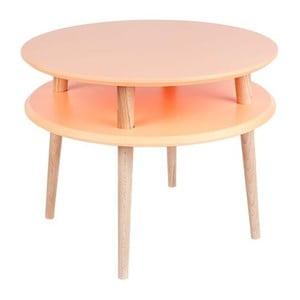 Pomarańczowy stolik Ragaba UFO Ø 57 cm