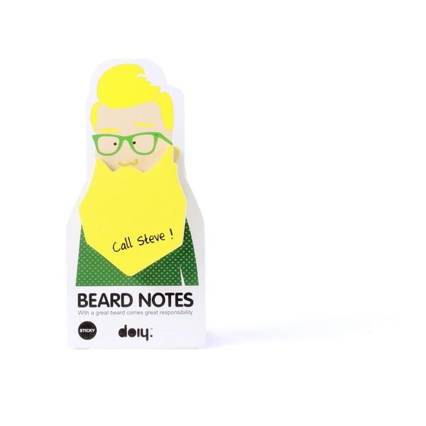 3 zestawy karteczek samoprzylepnych Beard Notes
