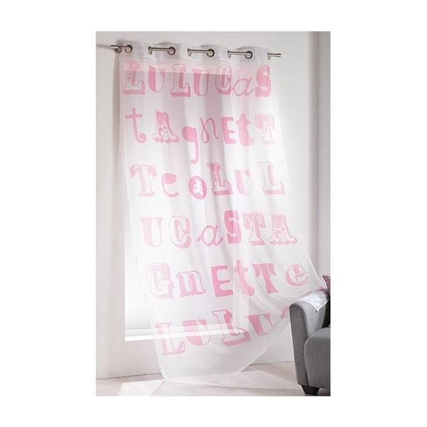 Zasłonka Lulu Script Rose, 140x240 cm
