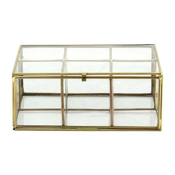 Szklany pojemnik Six Brass