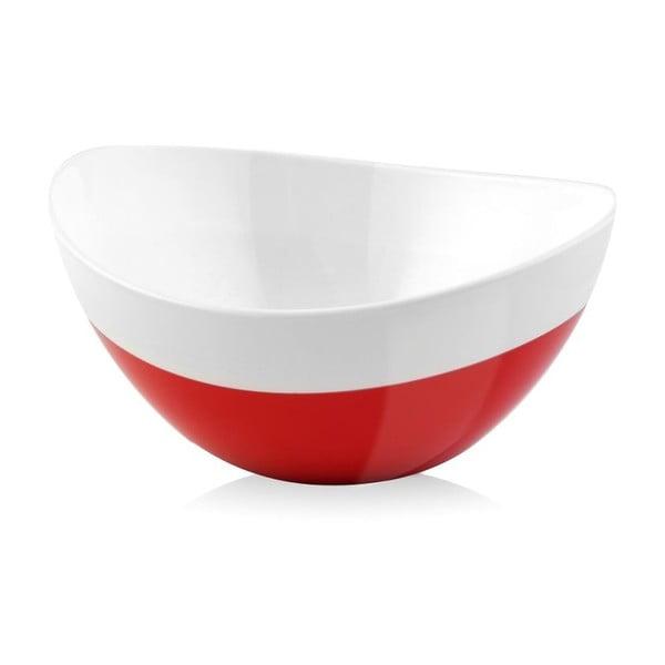 Czerwona miska Livio Duo, 28 cm