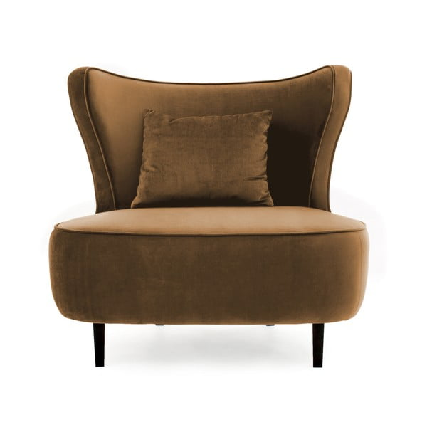 Brązowy fotel Vivonita Douglas Love Seat