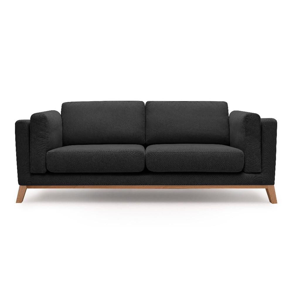Czarna sofa 2-osobowa Bobochic Paris Enjoy