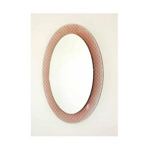 Lustro ścienne Foglia Rosso, 58x78 cm