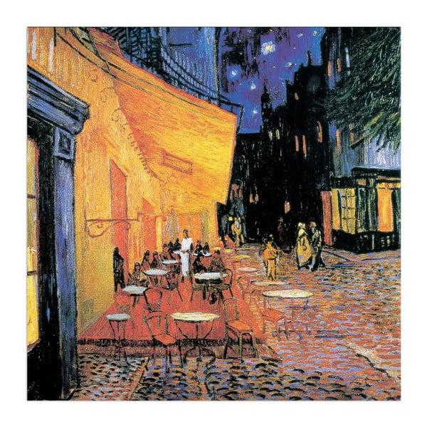 Obraz Vincent Van Gogh - Taras kawiarni w nocy (fragment), 30x30 cm