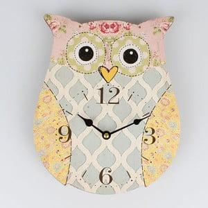 Drewniany zegar Cute Owl, 22,5x27,8 cm