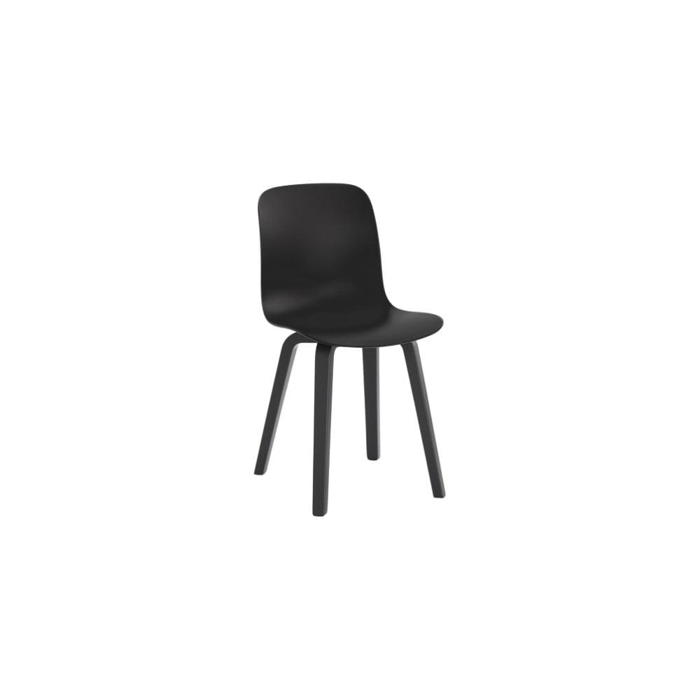 Czarne krzesło z nogami z drewna jesionu Magis Substance