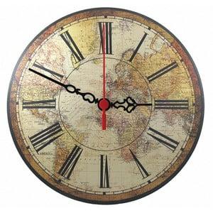 Zegar ścienny World Map, 30 cm