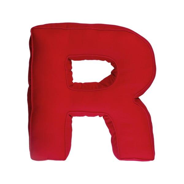 Poduszka w kształcie litery R, czerwona
