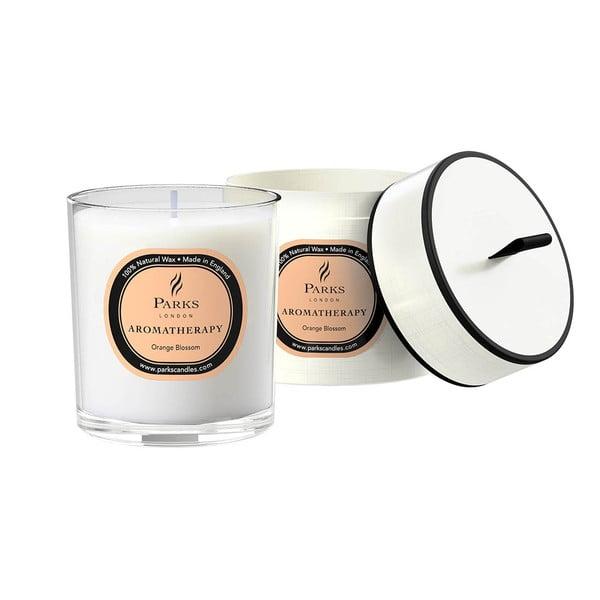 Świeczka o zapachu kwiatów pomarańczy Parks Candles London, 45 godz.
