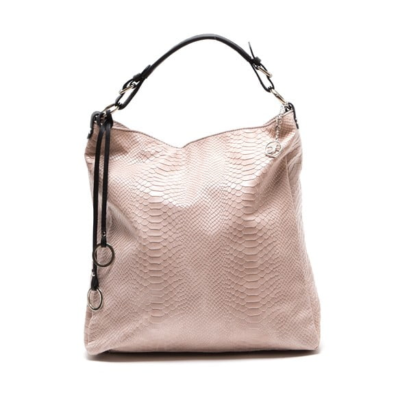 Skórzana torebka Clair, różowa