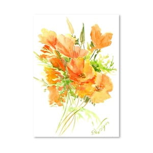 Plakat California Poppies (projekt Suren Nersisyan)