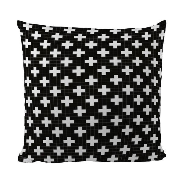 Poduszka Black Shake White Cross, 50x50 cm