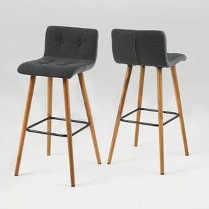 Krzeseło barowe Frida, szare