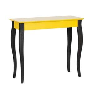 Żółta konsola z czarnymi nogami Ragaba Lilo, szerokść 85 cm