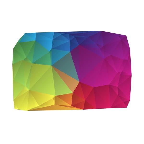 Winylowy dywan Origami Multicolor, 70x100 cm