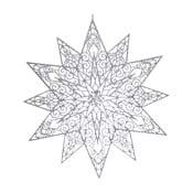 Gwiazda wisząca w srebrnej barwie Ewax Adornada, ⌀45cm
