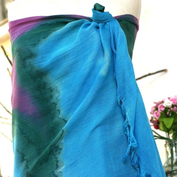 Pareo Cloth Turquoise, 70x190 cm