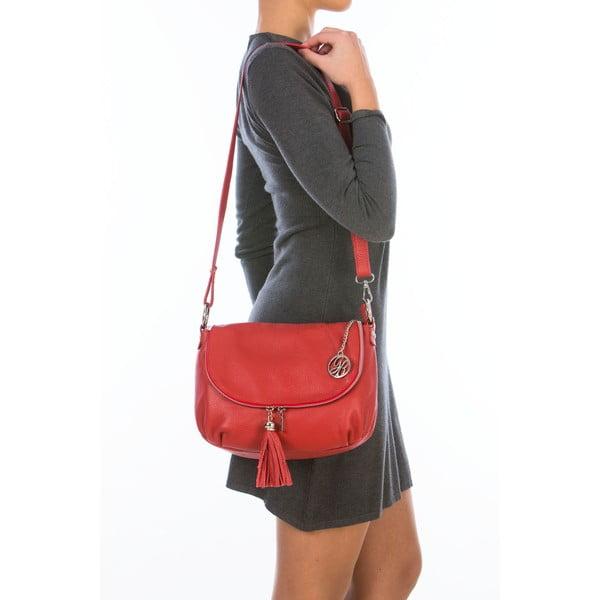 Skórzana torebka Paolo, czerwona