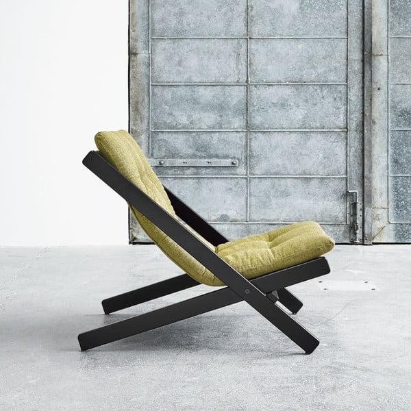 Fotel składany Karup Boogie Black/Avocado Green
