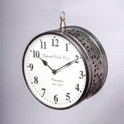 Zegar naścienny, grawerowane liście