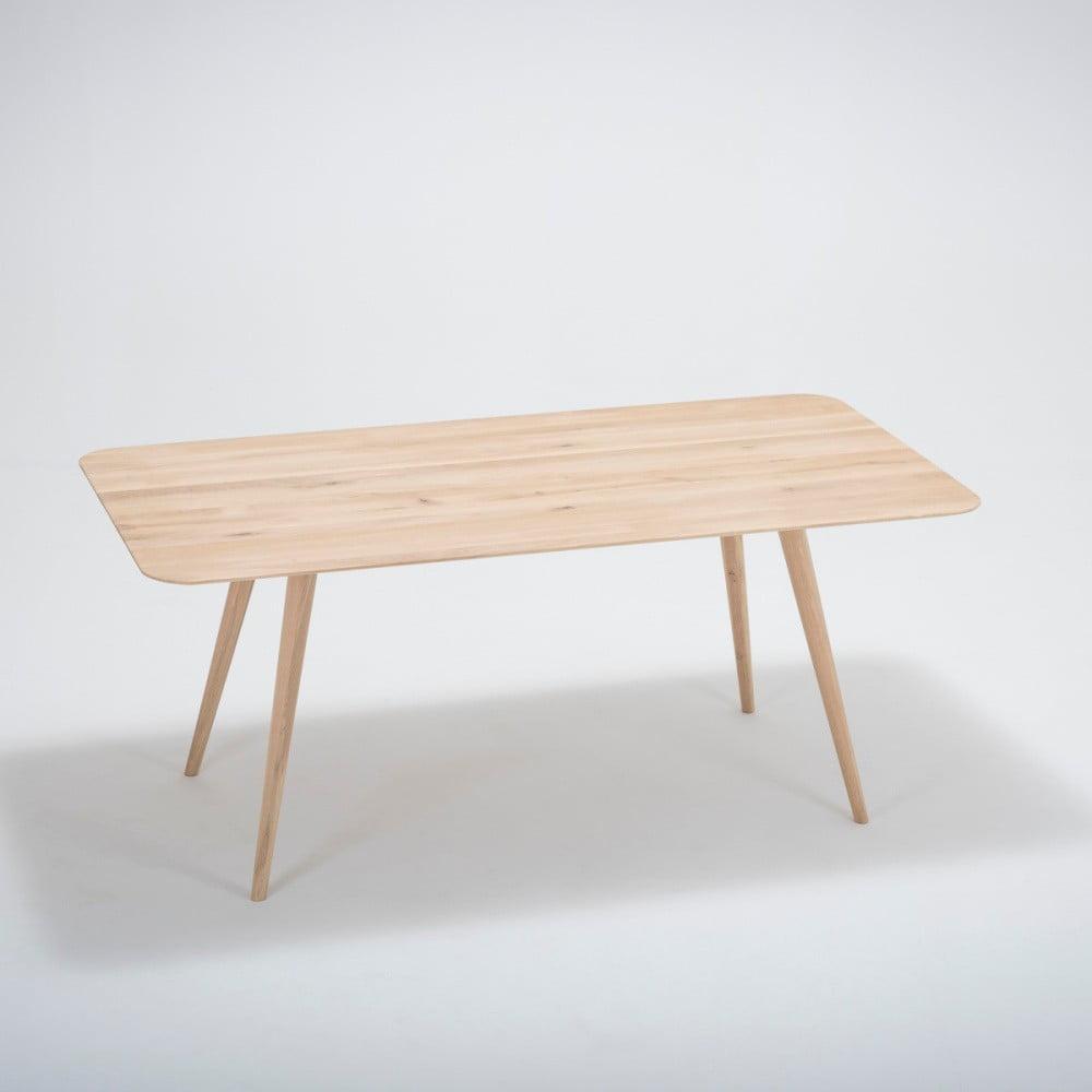 Stół z litego drewna dębowego Gazzda Stafa, 180x90cm