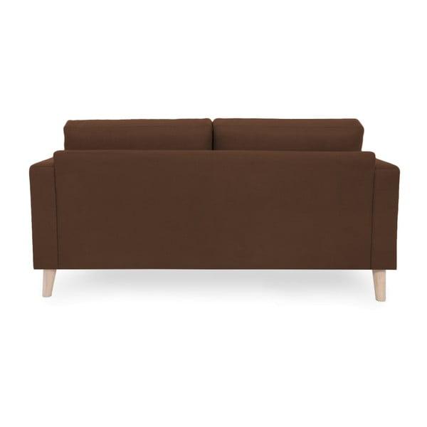 Brązowa sofa 2-osobowa z jasnymi nogami Vivonita Tom
