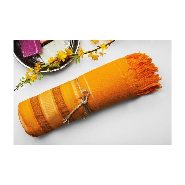 Ręcznik hamam Cotton Loincloth Orange, 75x170 cm