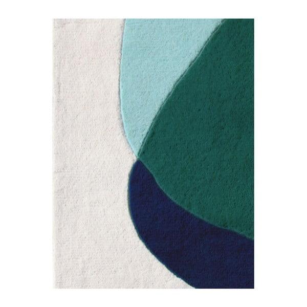 Zielono-szary dywan z czystej wełny HARTÔ Jane, 180x220 cm