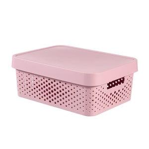 Różowe pudełko Curver Simpla Lungo Holes