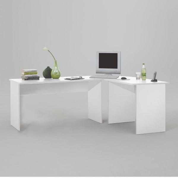 Białe biurko narożne 13Casa Till