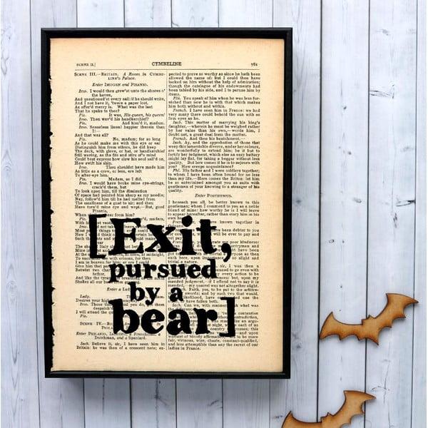 Plakat w drewnianej ramie Shakespeare Exit