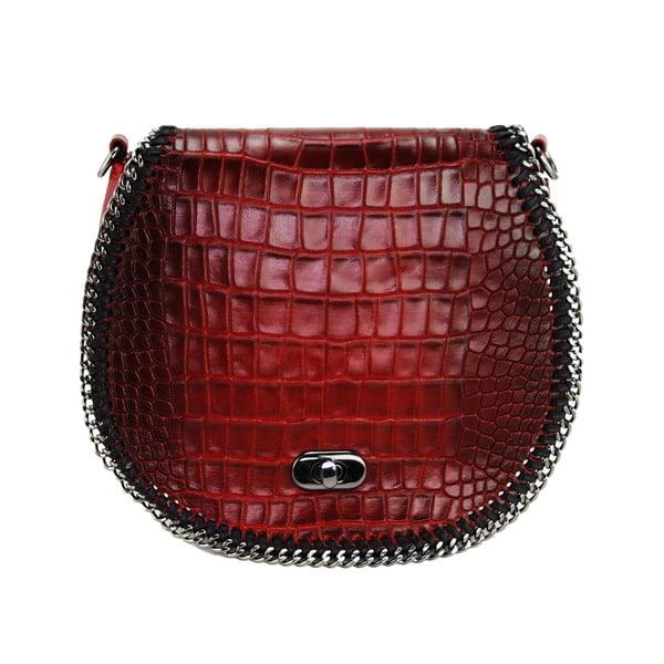 Skórzana torebka Valentina Rosso