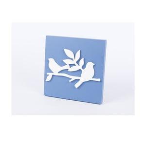 Drewniany obraz Birds 30x30 cm, niebieski