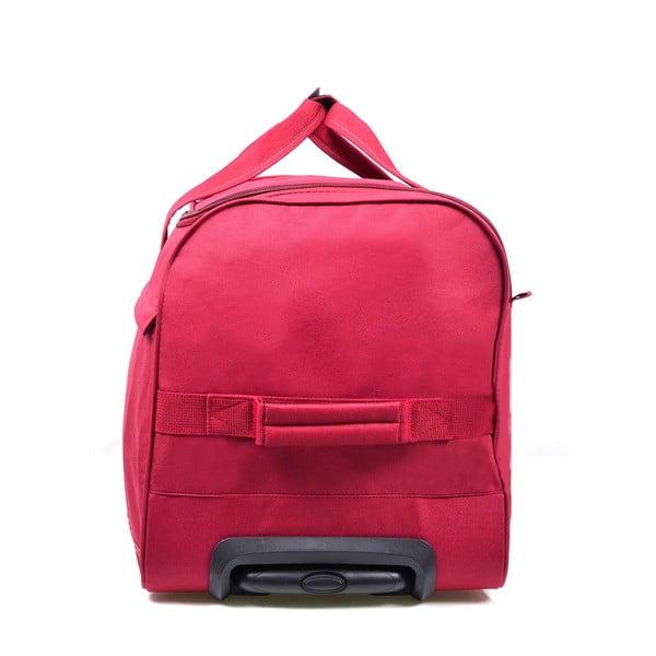 Różowa torba podróżna na kółkach Hero,43l