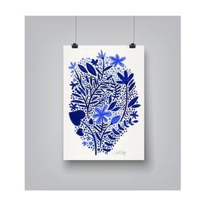 Plakat Americanflat Garden in Blue, 30x42 cm