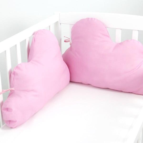 Ochraniacz do łóżeczka Mr. Fox Nube Pink, 60 x 40 cm